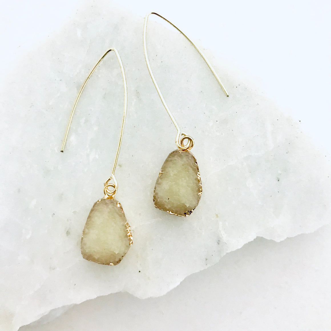 Sea Salt Gold Earring