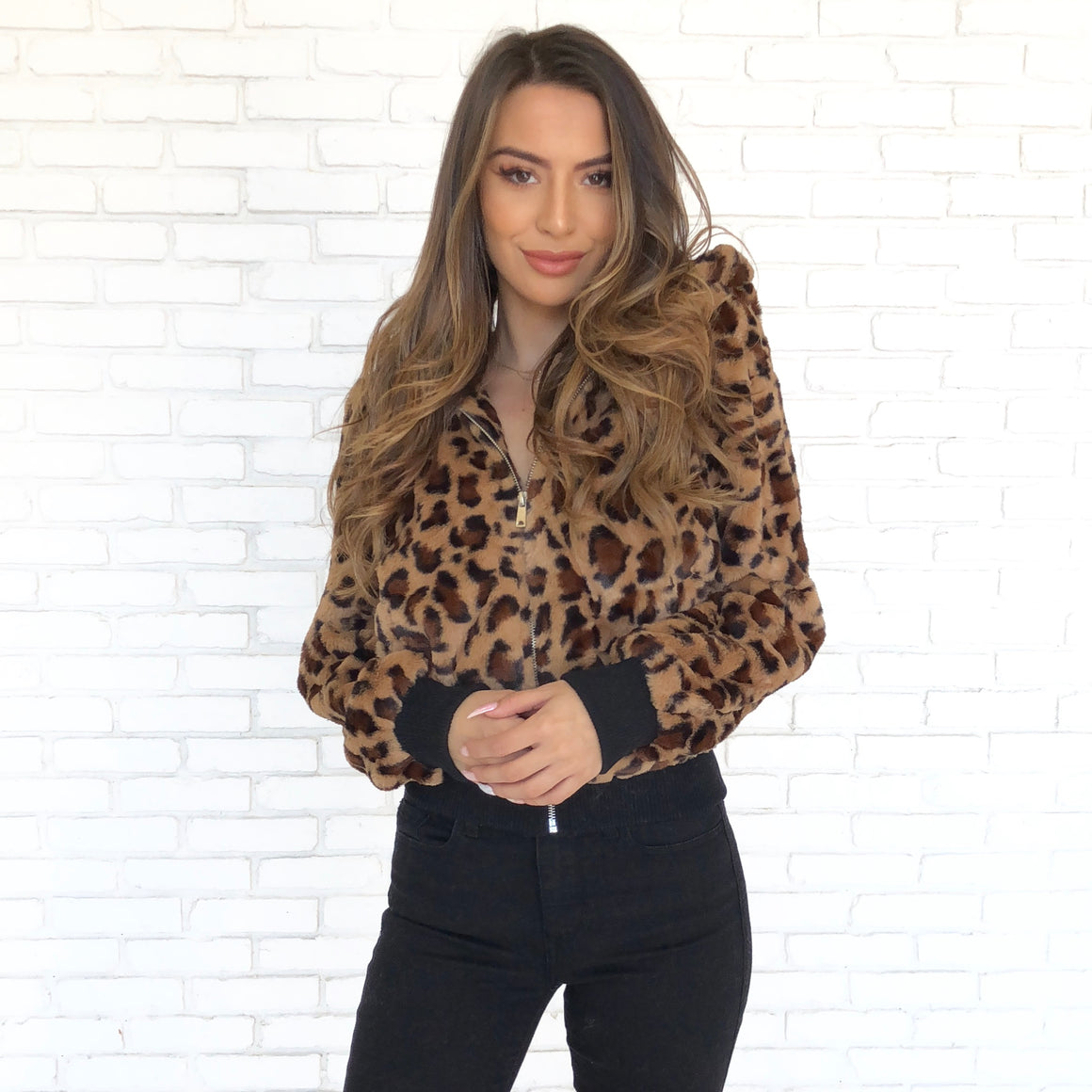 Wild Child Leopard Fur Sweater