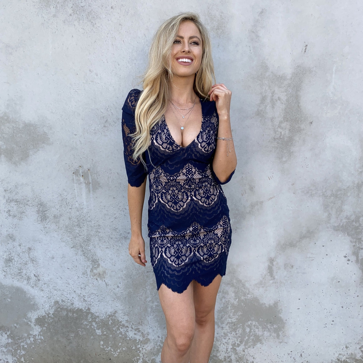 All For You Navy Lace Dress - Dainty Hooligan