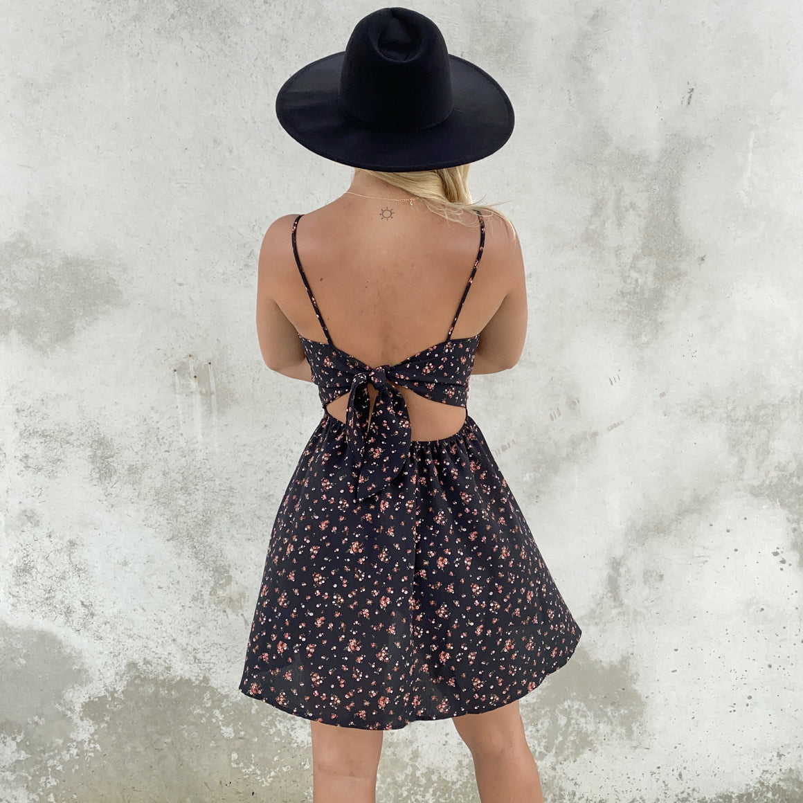 Garden Gathering Floral Skater Dress - Dainty Hooligan