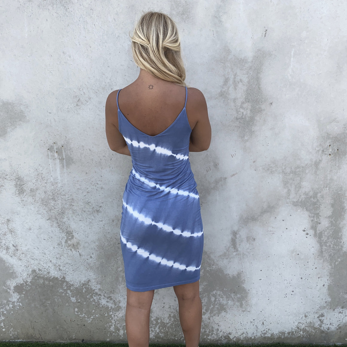 On The Horizon Blue Tie Dye Midi Dress