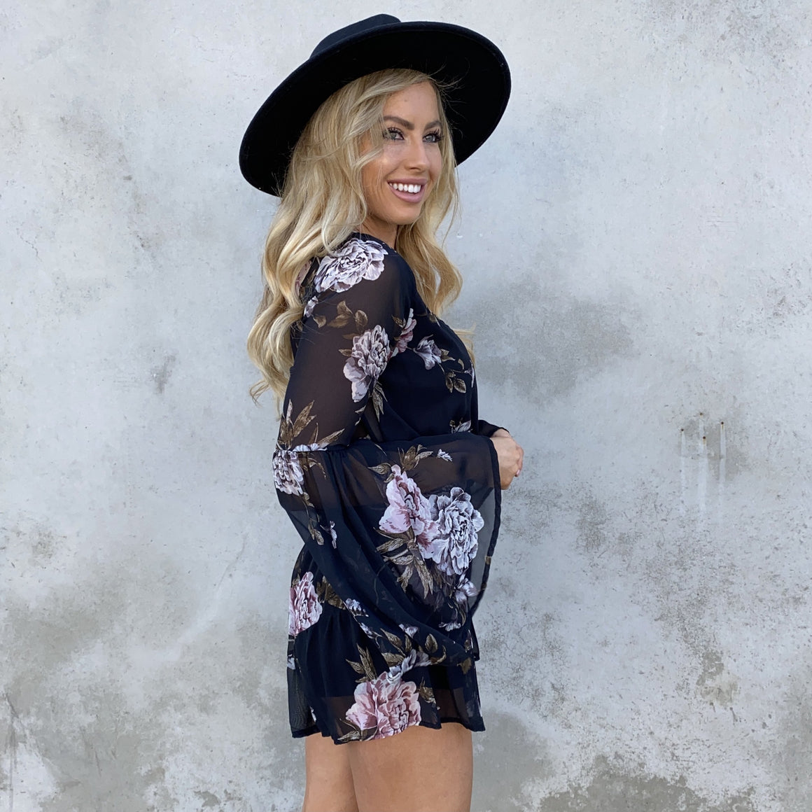 First Hand Floral Romper - Dainty Hooligan