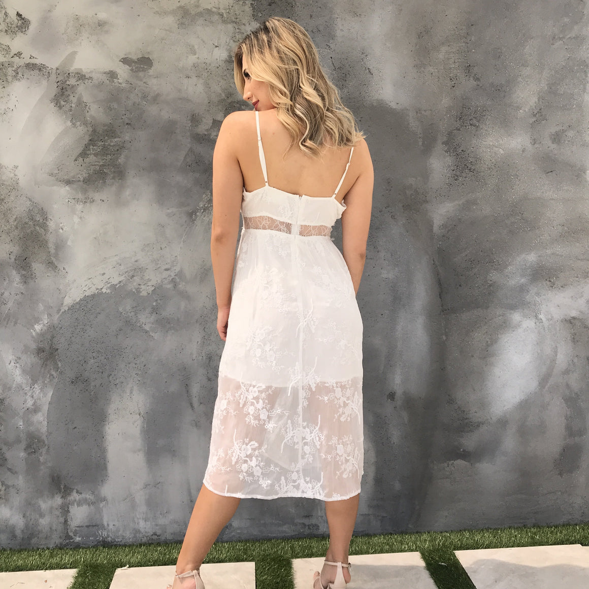 Dream Of Me Ivory Lace Dress - Dainty Hooligan