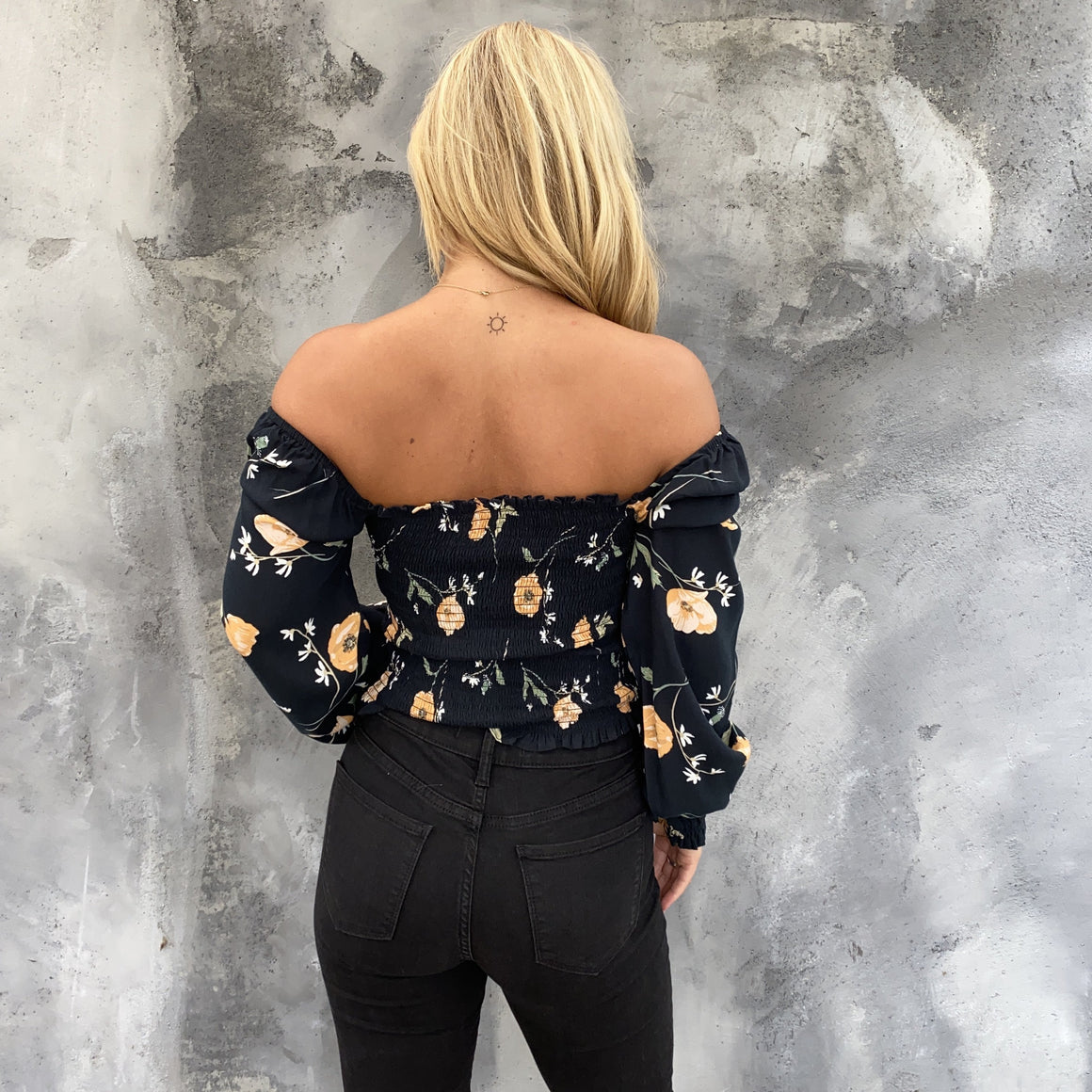 Tease Me Floral Off Shoulder Crop Top