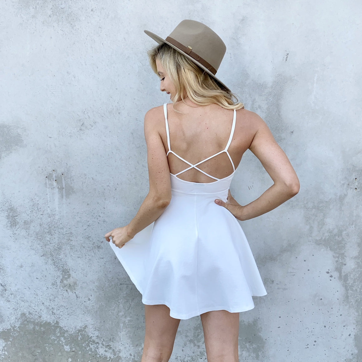 Expect The Best Skater Dress in White - Dainty Hooligan