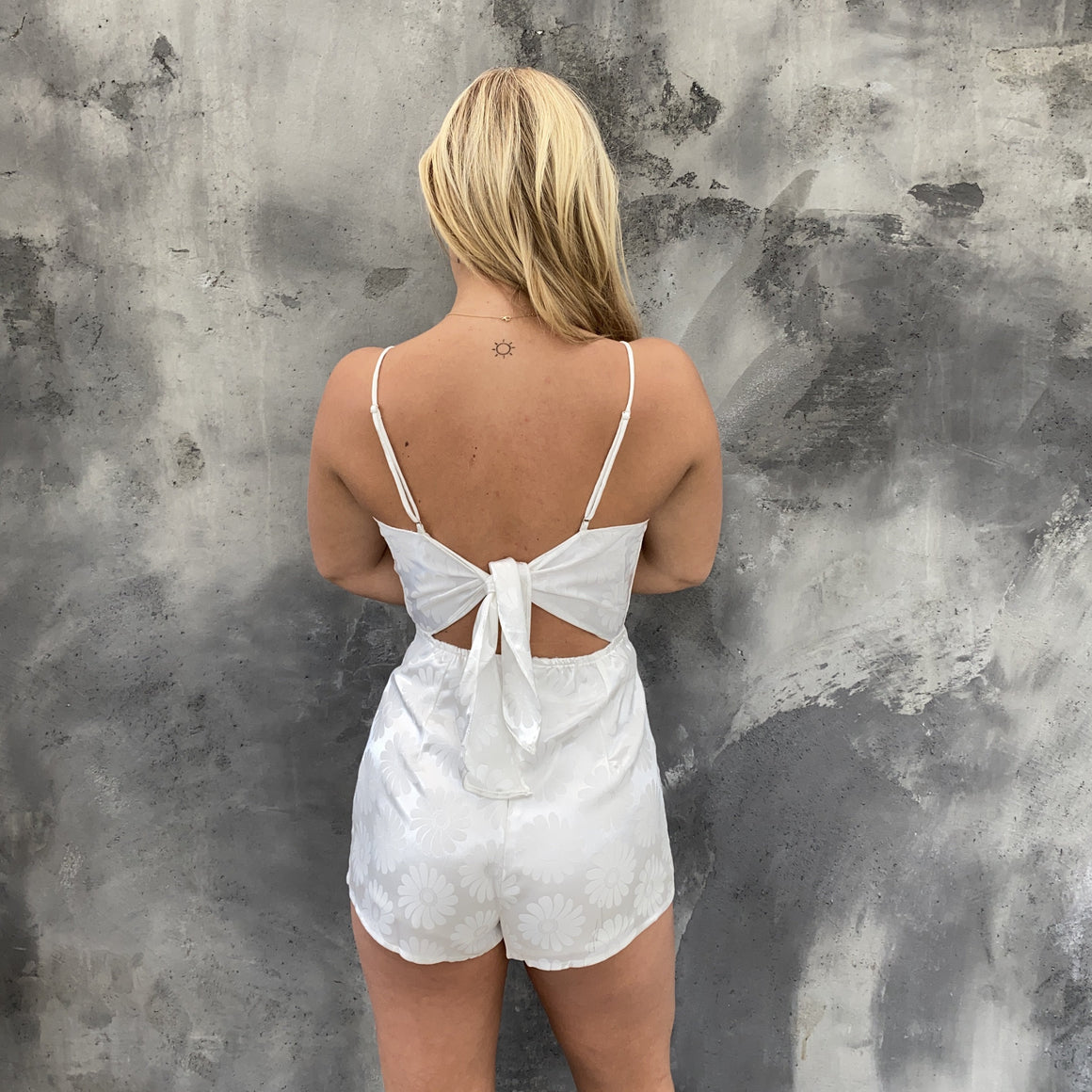 Flower Child White Floral Print Romper - Dainty Hooligan