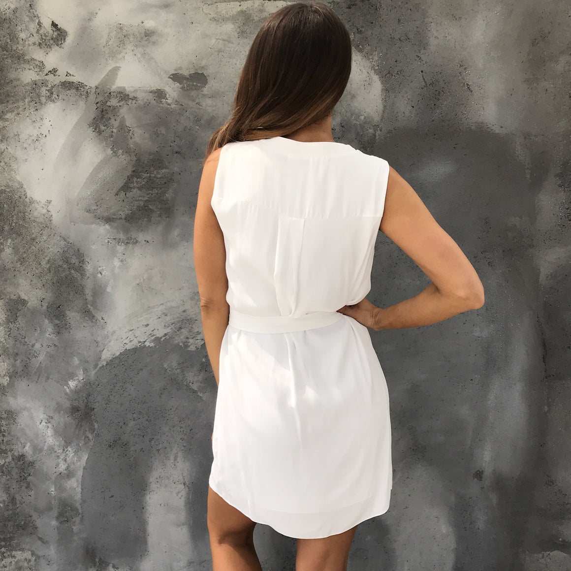 All Work Shift Dress In Ivory - Dainty Hooligan
