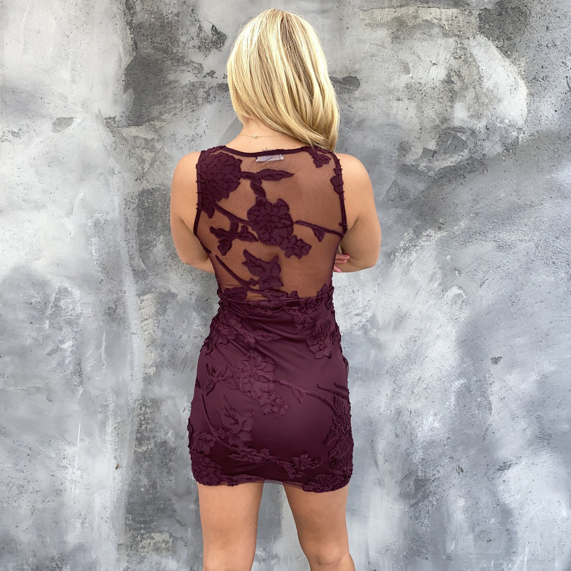 The Last Rose Burgundy Bodycon Dress - Dainty Hooligan