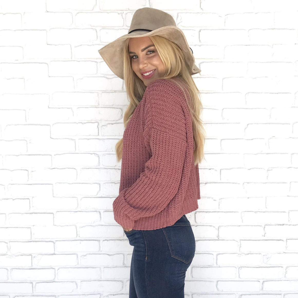 Let's Get Cozy Knit Sweater in Mauve - Dainty Hooligan
