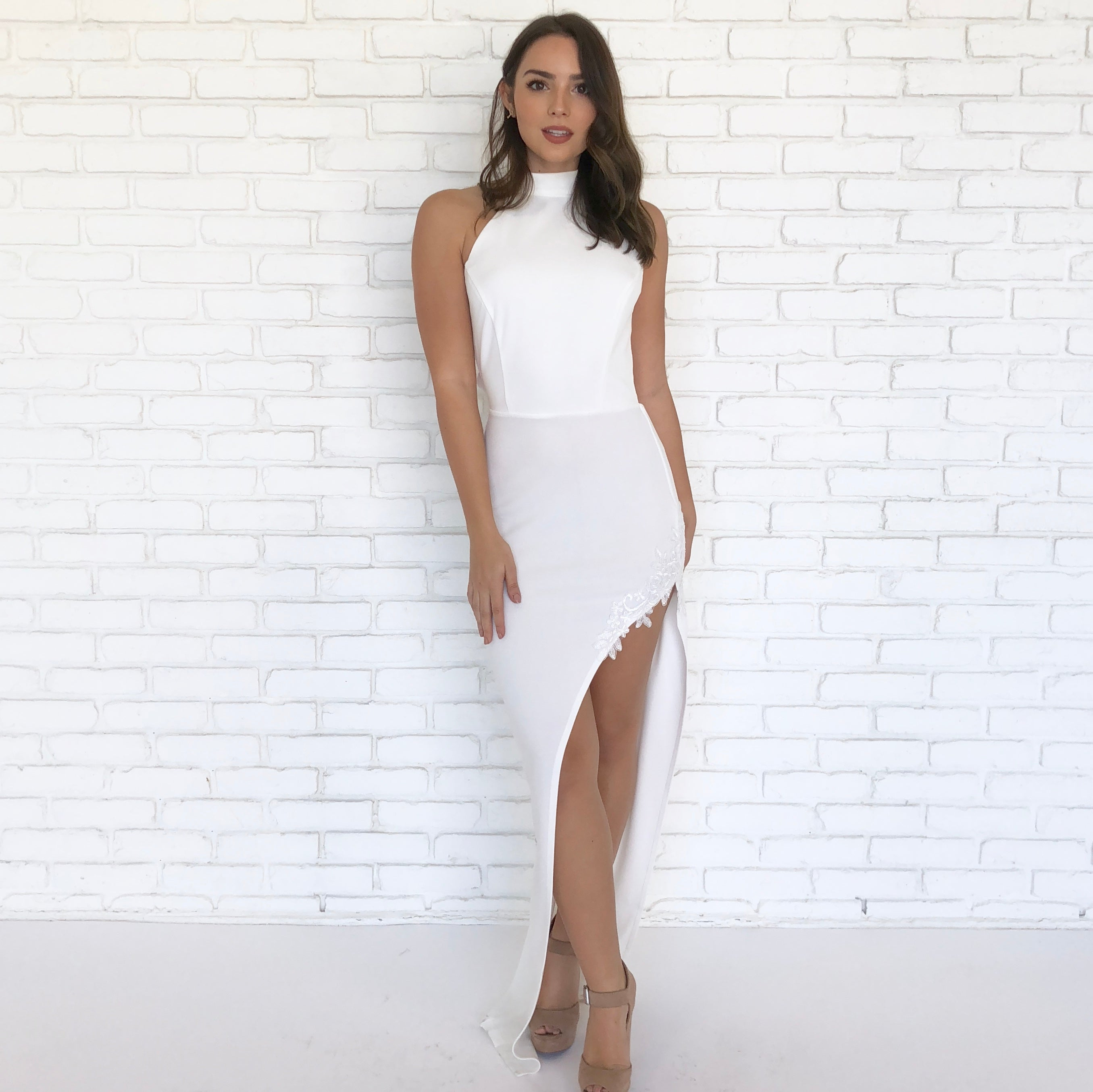 af48484541 Purity White Backless Maxi Dress - Dainty Hooligan Boutique