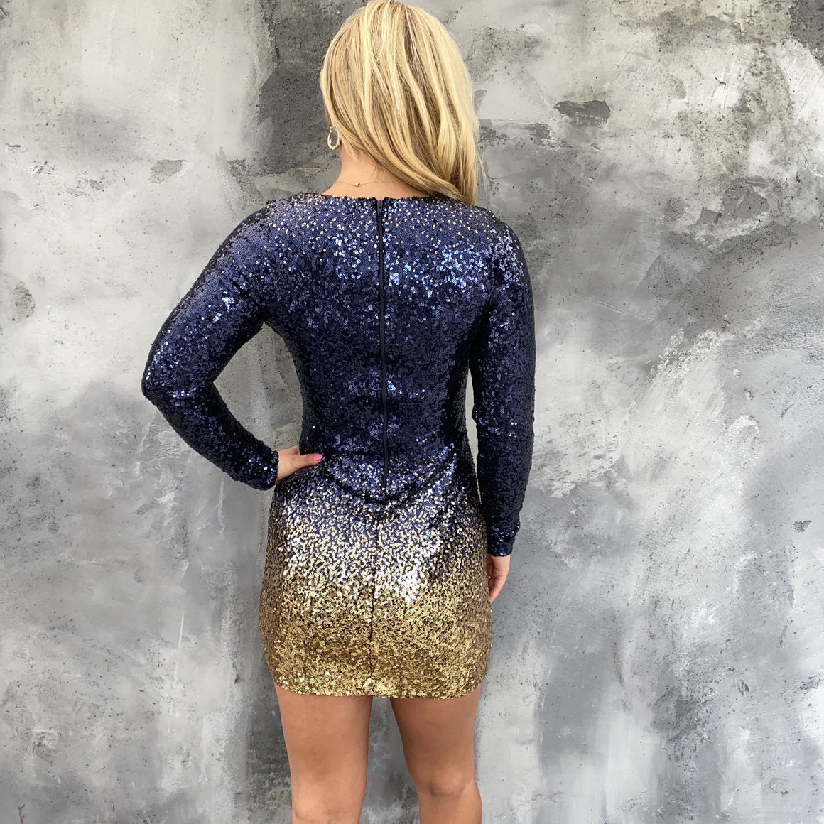 Beyond Expectations Ombre Sequin Bodycon Dress