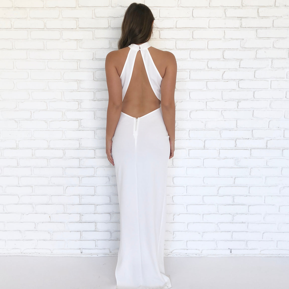 Purity White Backless Maxi Dress - Dainty Hooligan