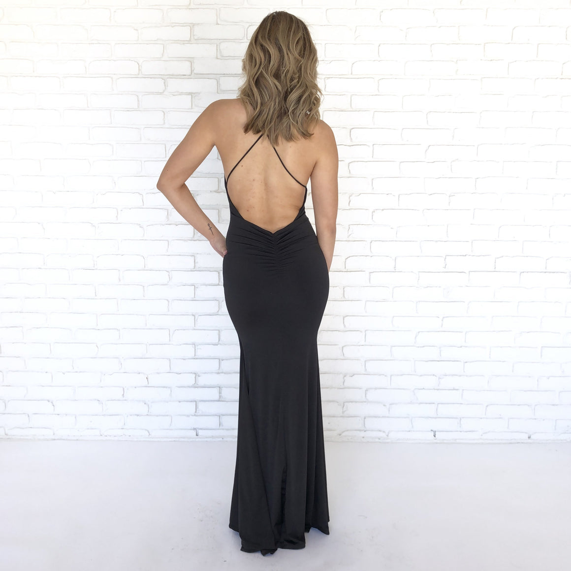 Table For Two Black Maxi Dress - Dainty Hooligan