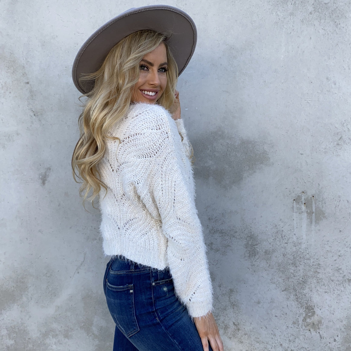 Love The Way It Feels Knit Ivory Sweater - Dainty Hooligan