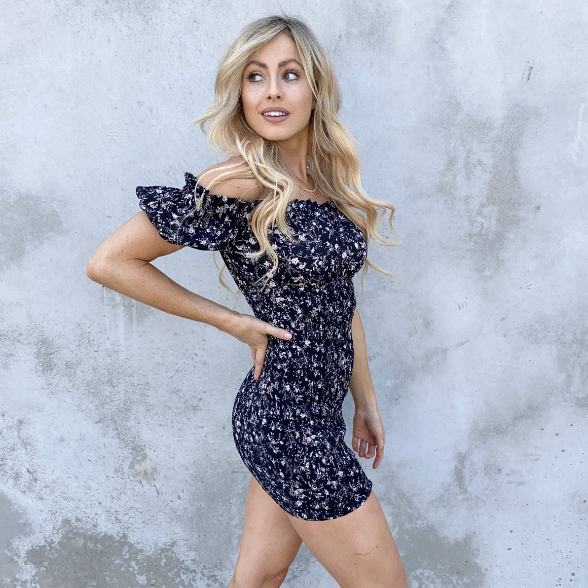 Wait For Your Love Floral Ruche Dress - Dainty Hooligan