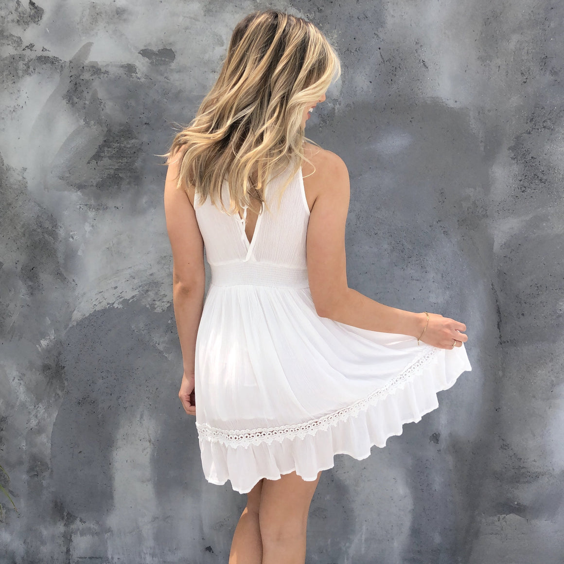 Love Never Fades White Skater Dress - Dainty Hooligan
