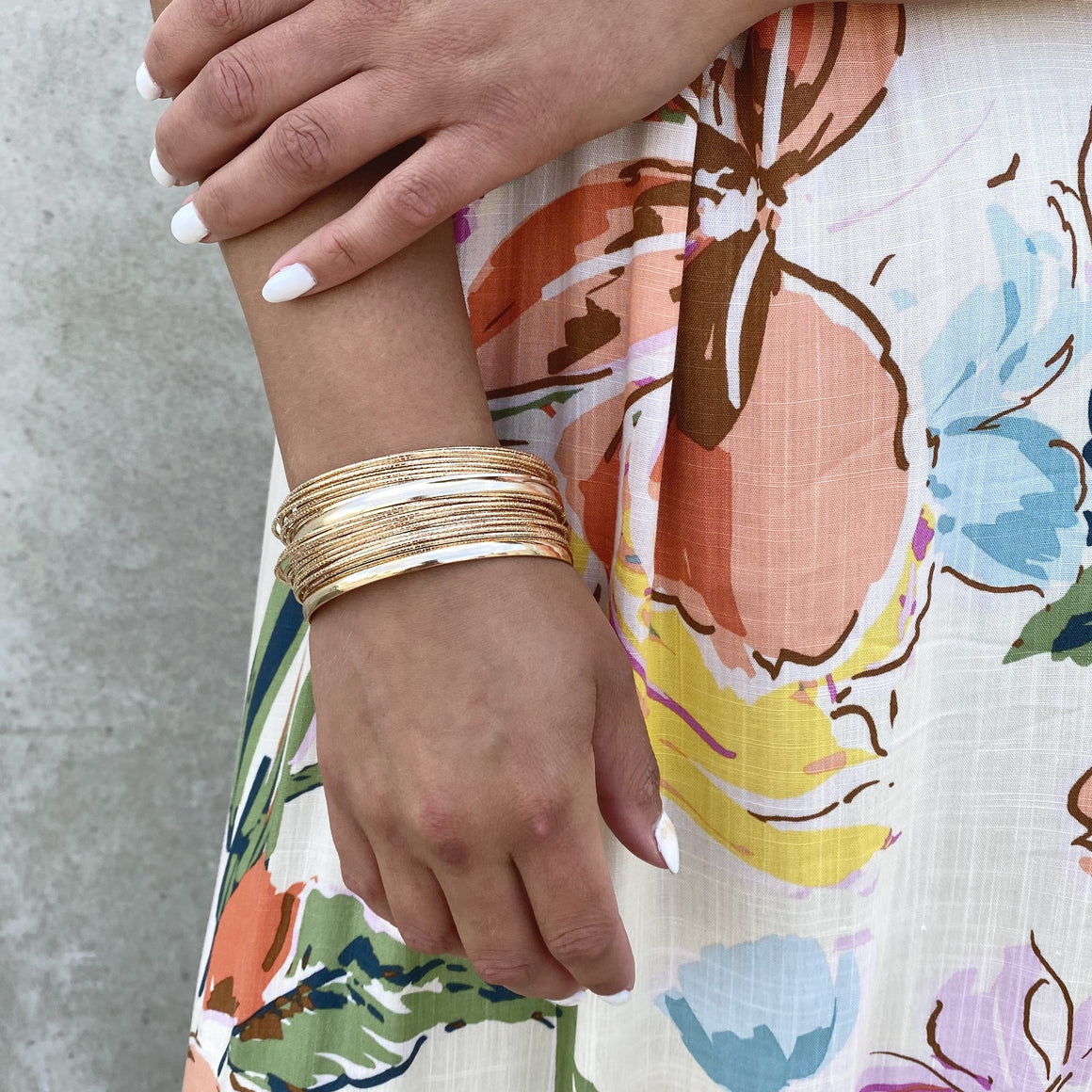 Put Together Gold Bangles - Dainty Hooligan