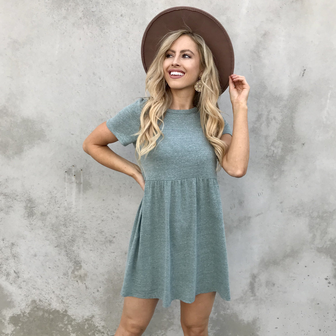 Carry On Babydoll Dress in Seafoam - Dainty Hooligan
