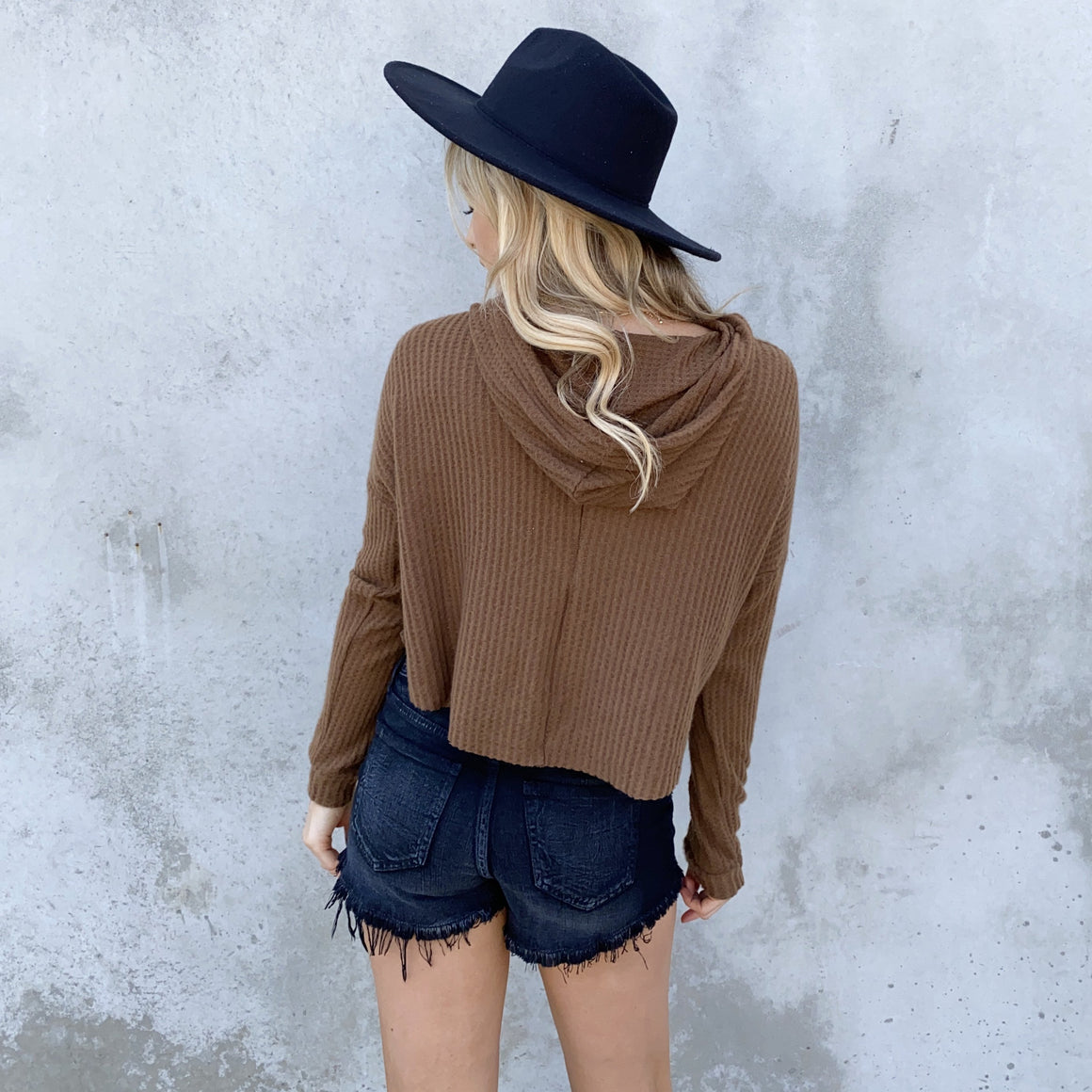 Want It Got It Brown Fleece Hoodie Sweater Top - Dainty Hooligan