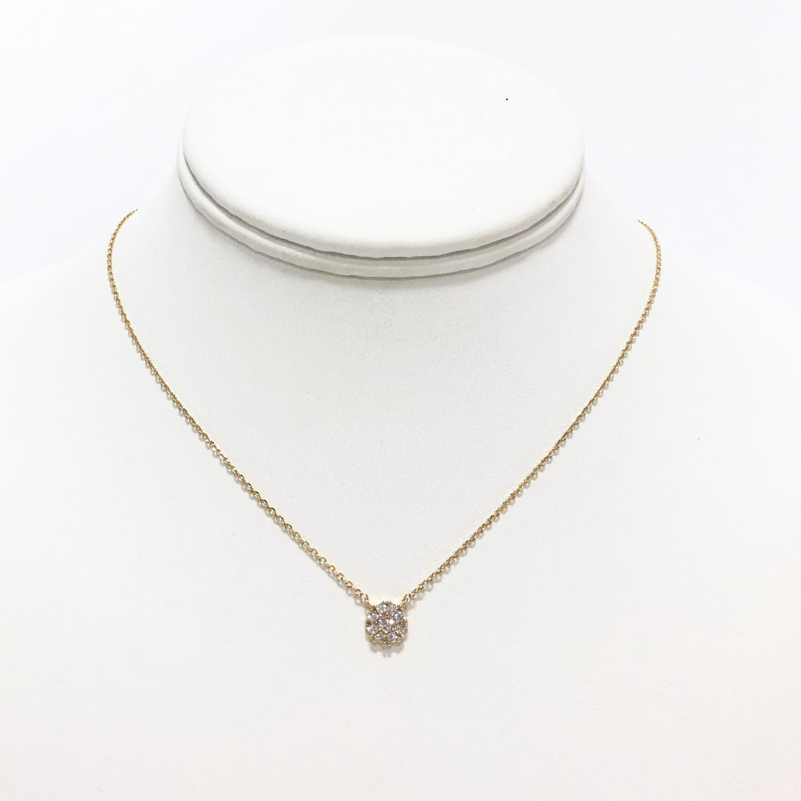 Cluster of Diamonds Gold Necklace