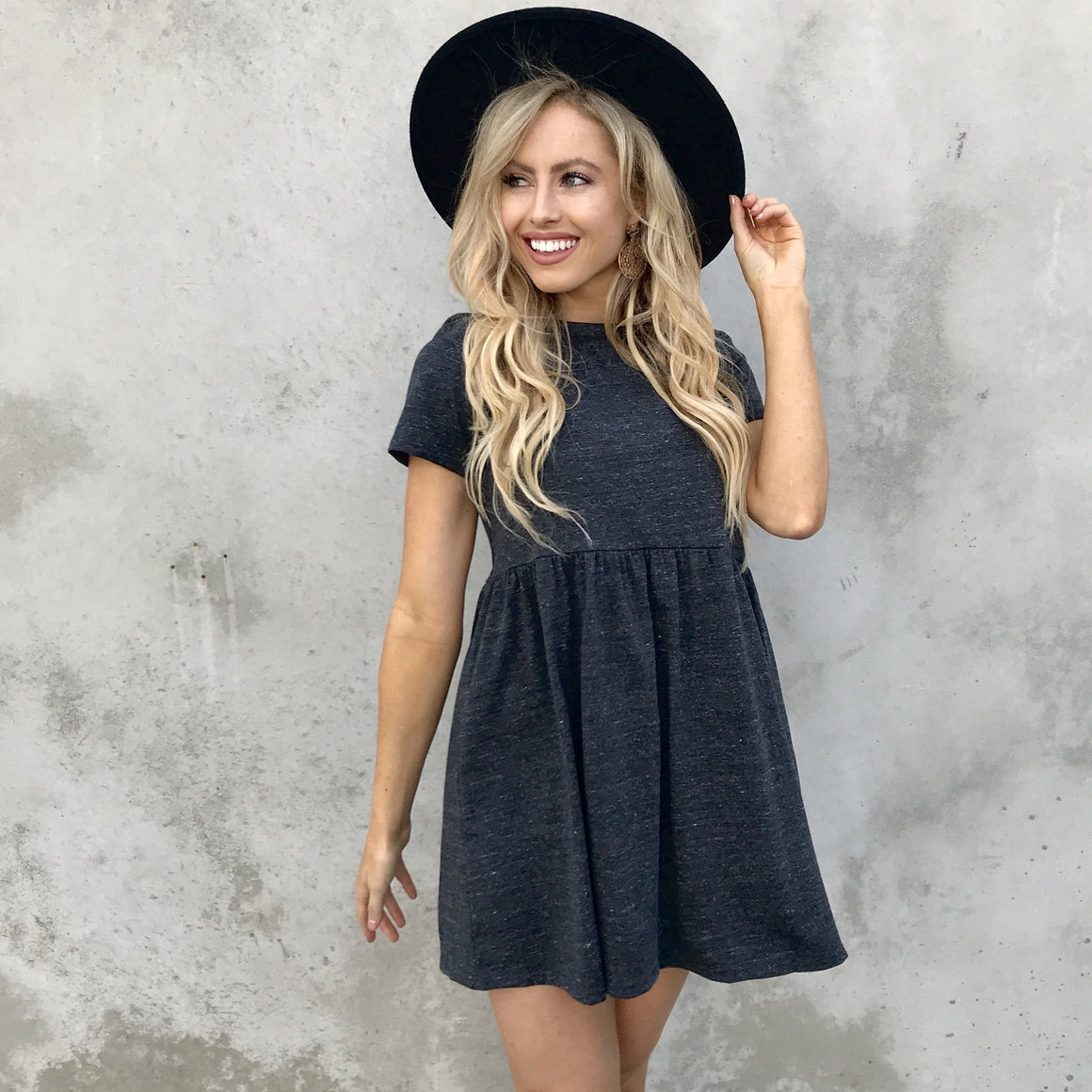 Carry On Babydoll Dress in Black - Dainty Hooligan