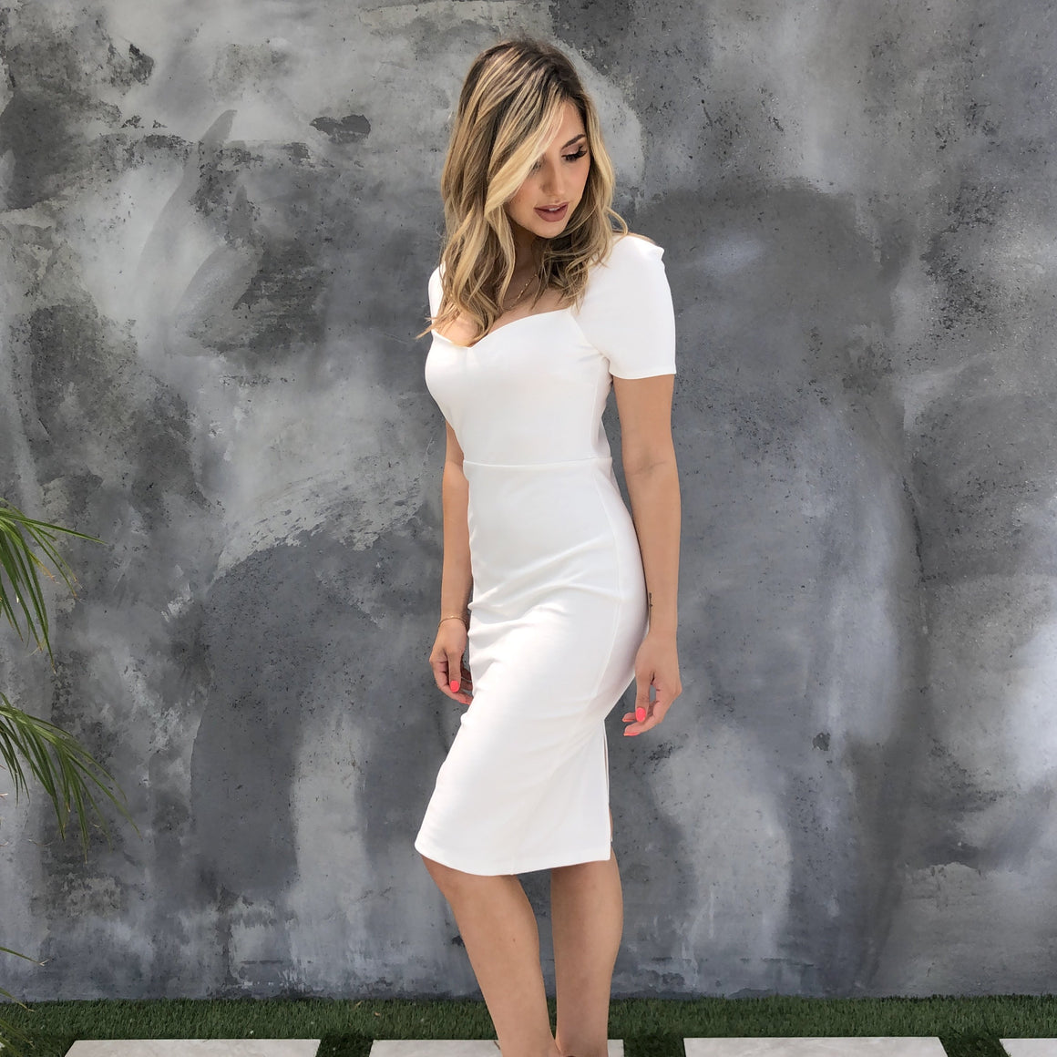 Amazing Grace White Midi Dress - Dainty Hooligan