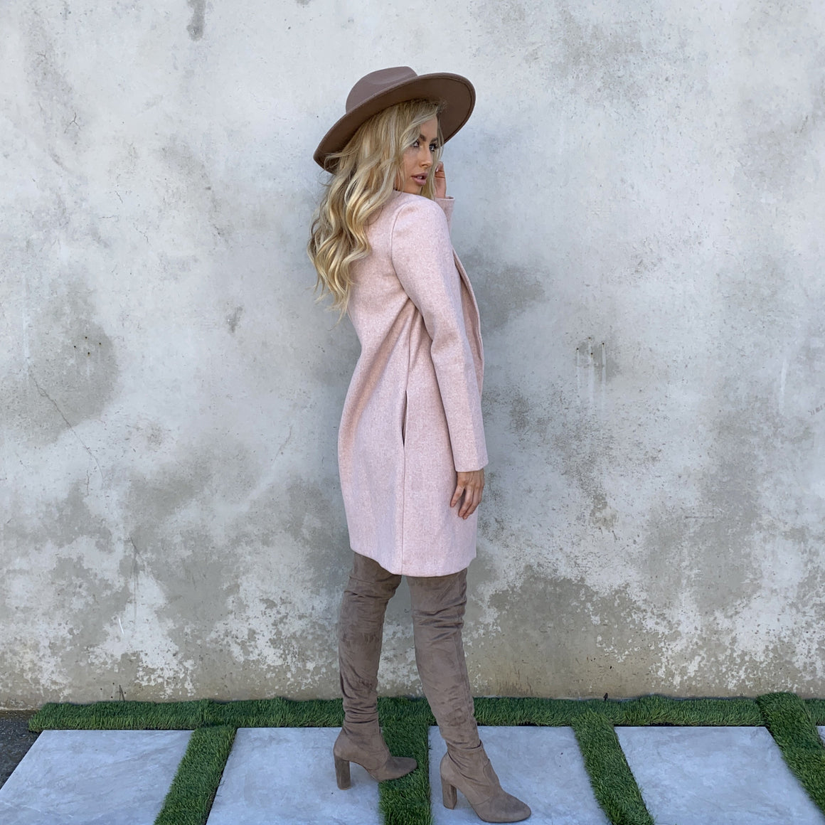 Crisp Morning Mauve Sweater Coat - Dainty Hooligan
