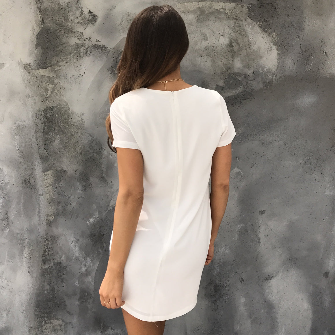 Mandy Shift Dress in Ivory - Dainty Hooligan