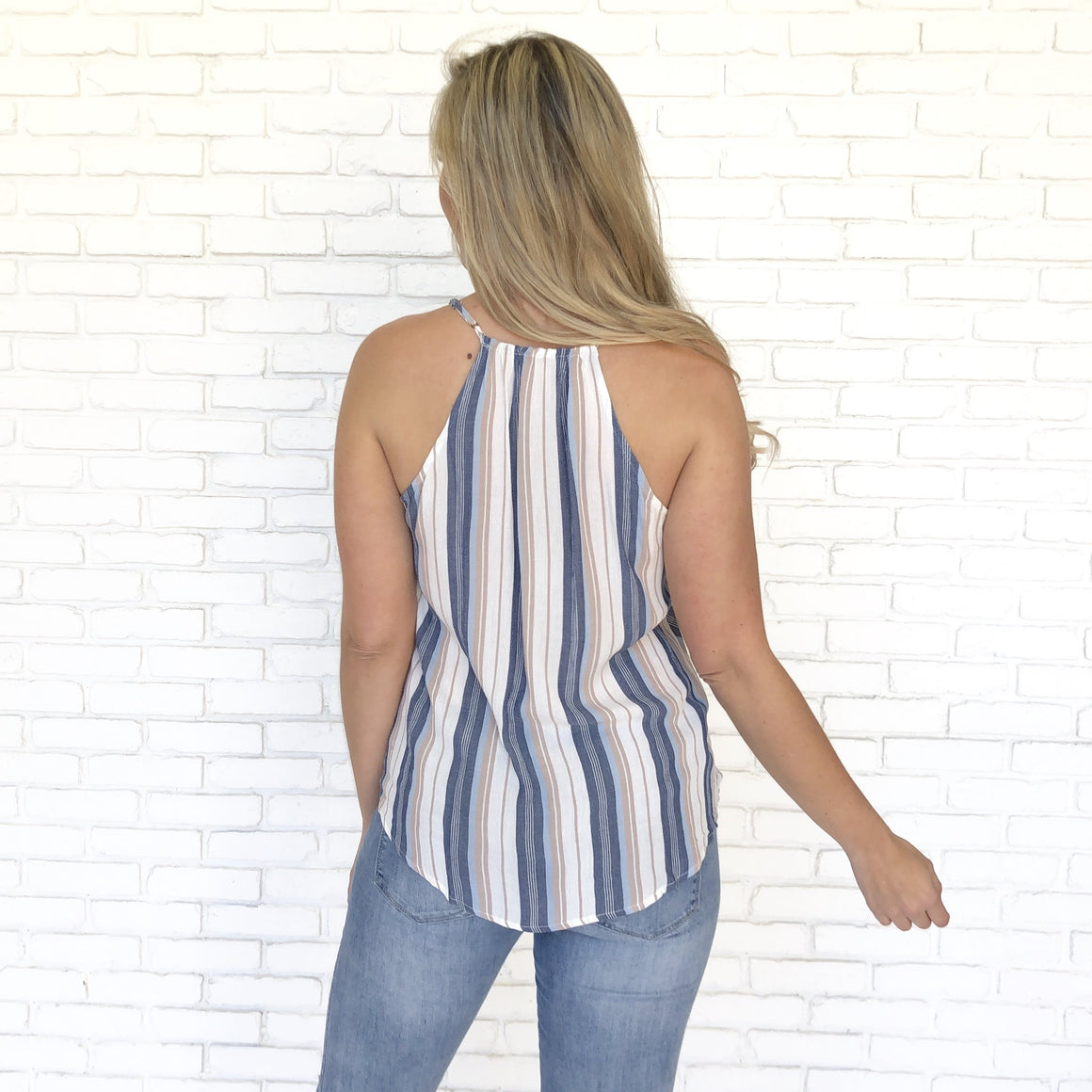 Sweet Thing Stripe Tank Blouse - Dainty Hooligan