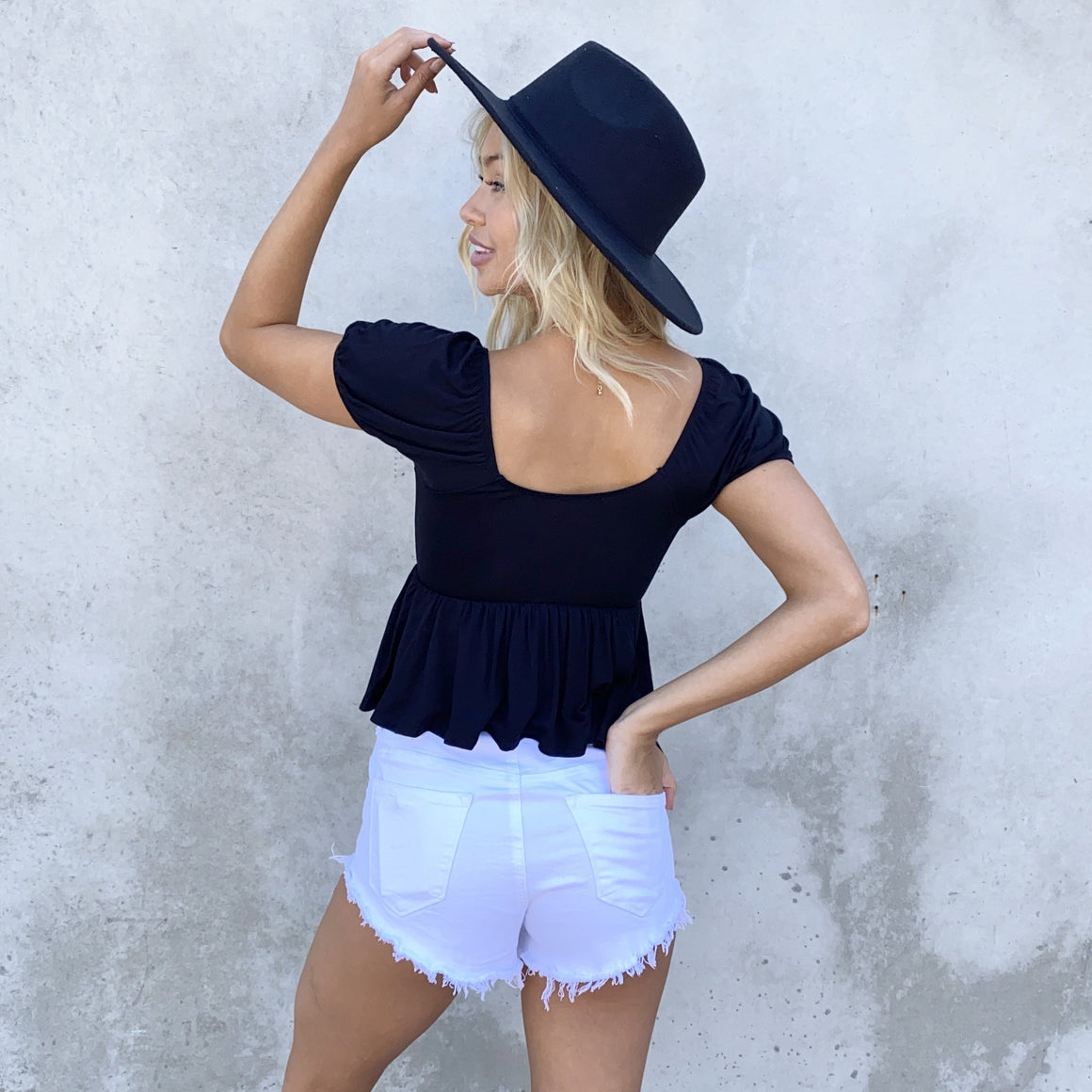 Saving Grace Jersey Top In Black - Dainty Hooligan
