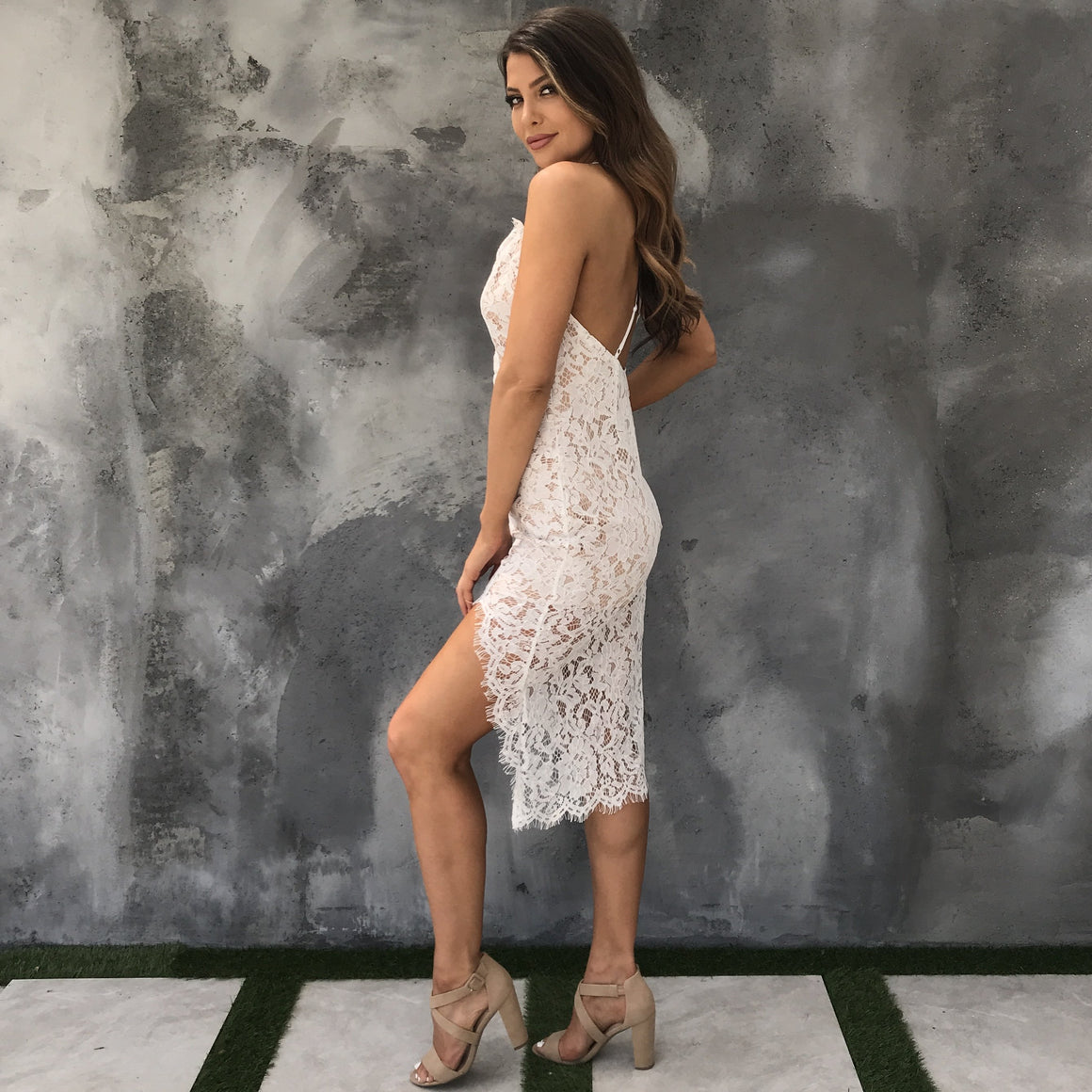 Make a Wish Crochet Dress in White - Dainty Hooligan
