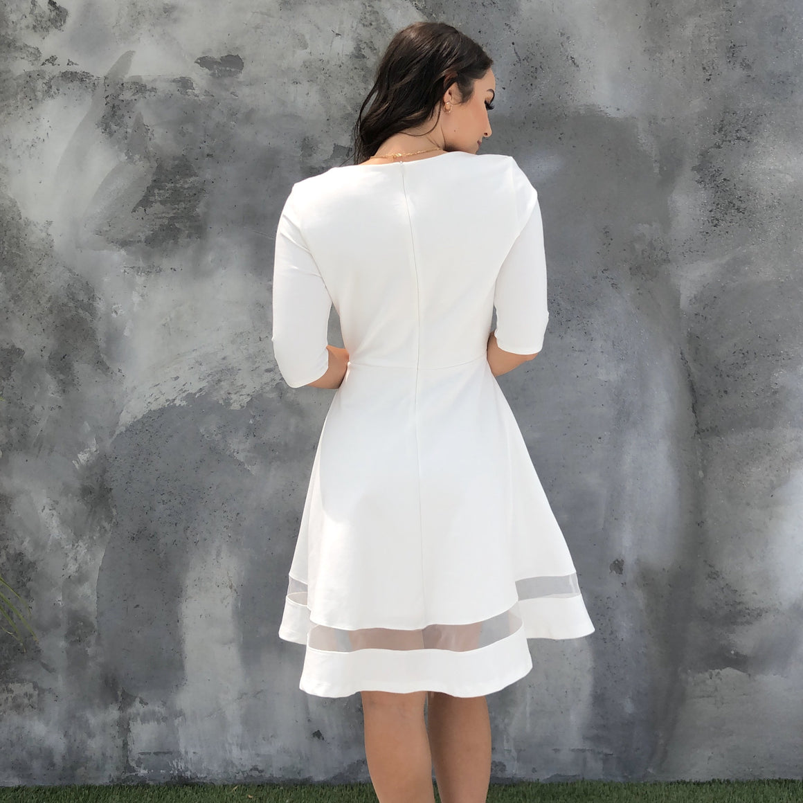 Dolce Amor White Skater Dress - Dainty Hooligan