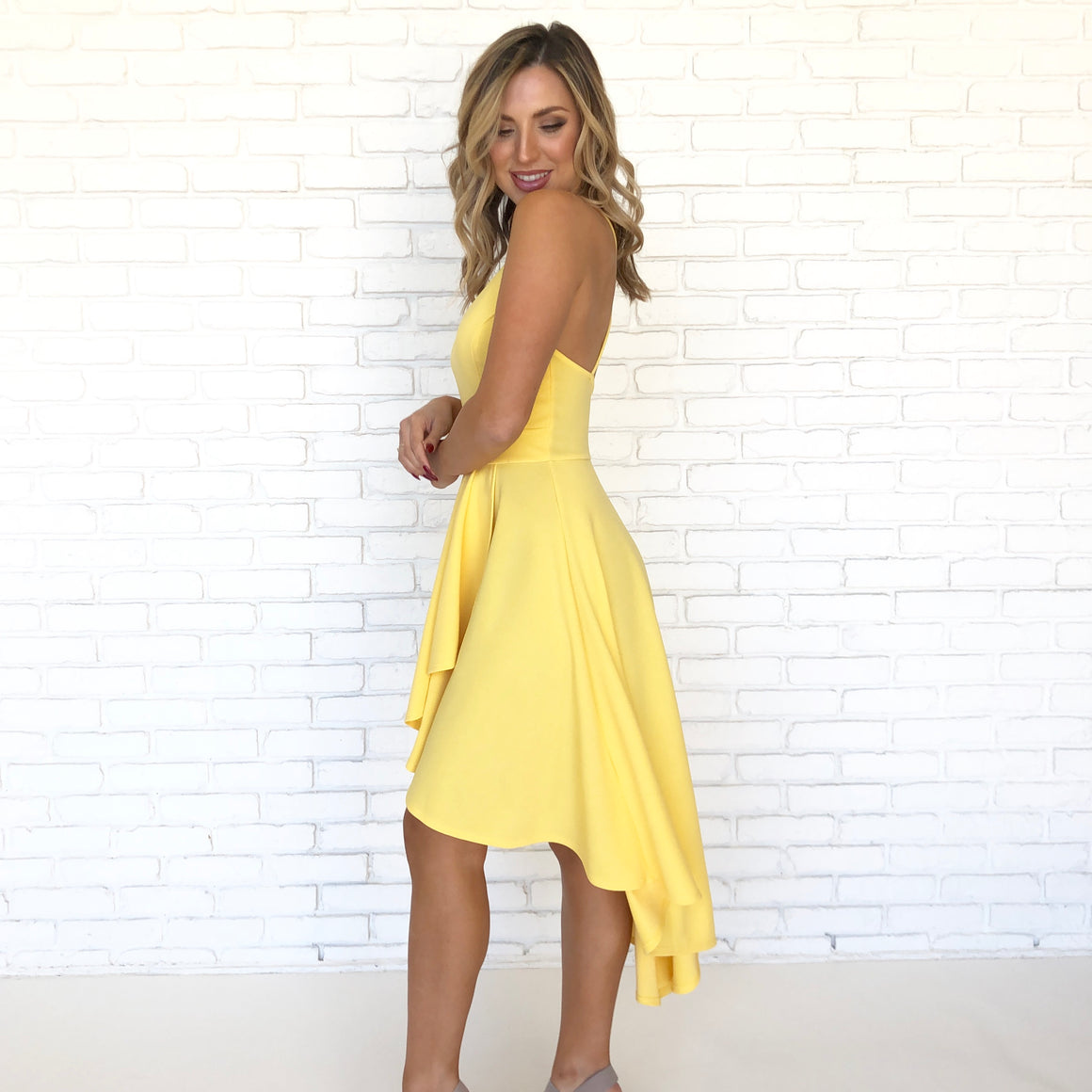 Happy Days High Low Yellow Dress