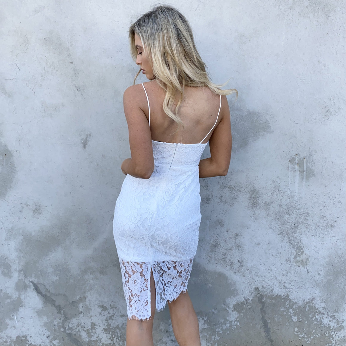 Untouchable White Lace Midi Dress - Dainty Hooligan