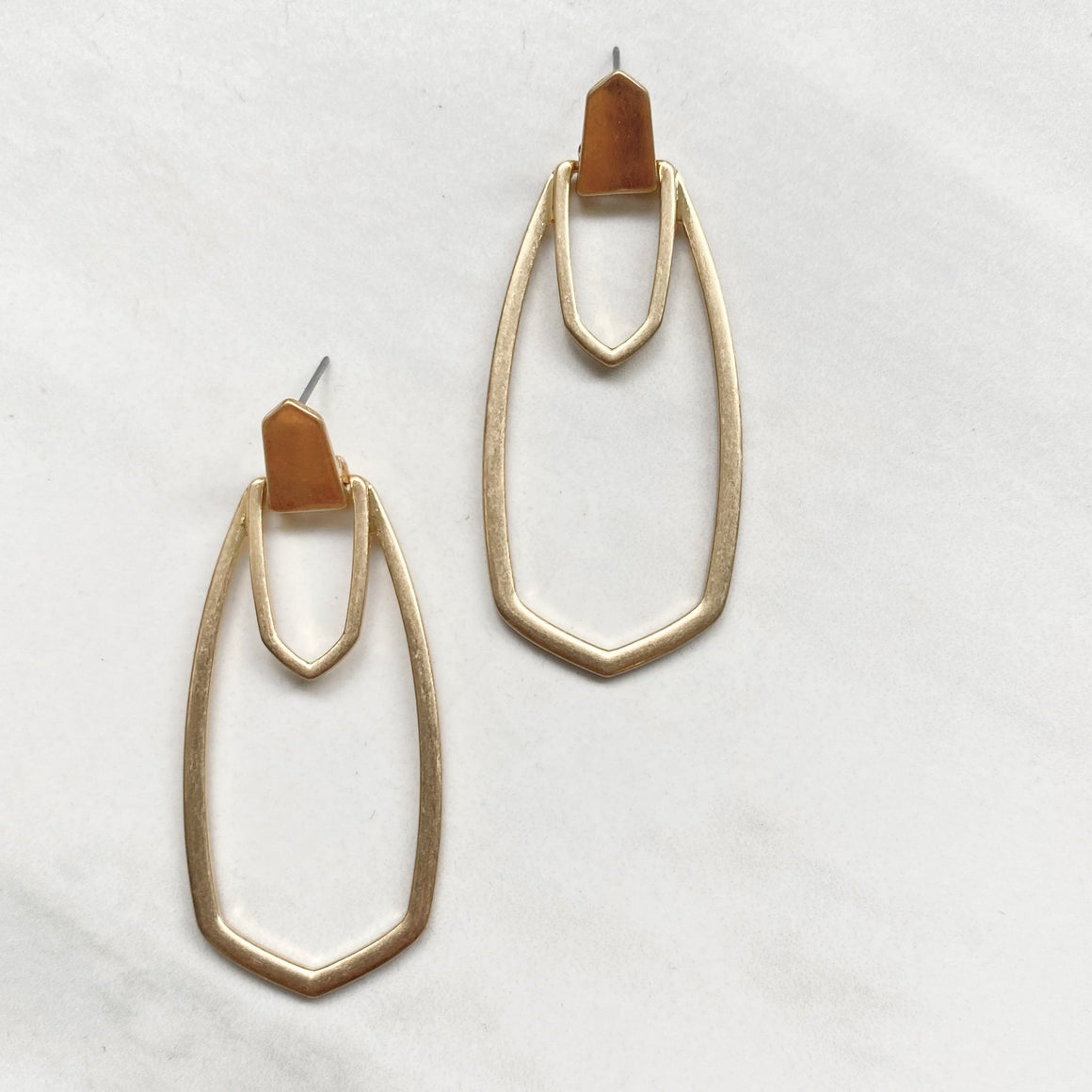 On Edge Gold Statement Earrings
