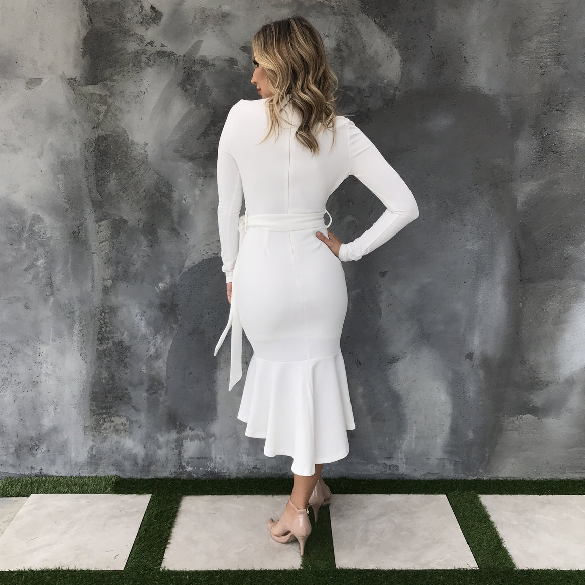 Stand By You White Midi Dress - Dainty Hooligan