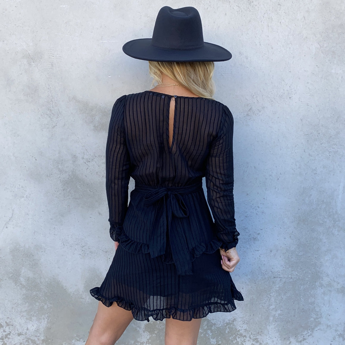 Whole Hearted Black Dress - Dainty Hooligan