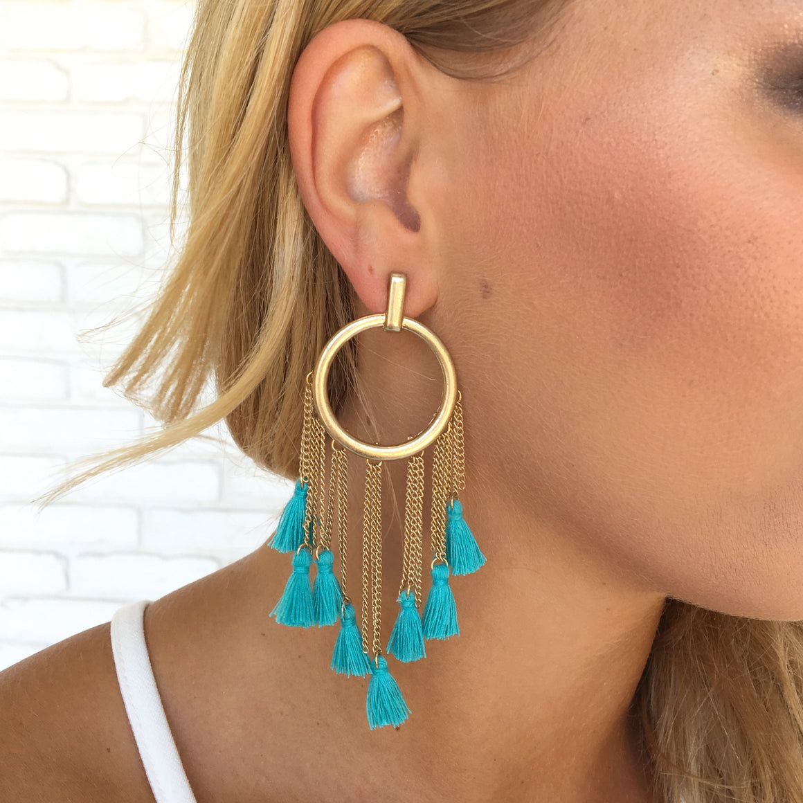 Boho Queen Tassel Hoop Earrings