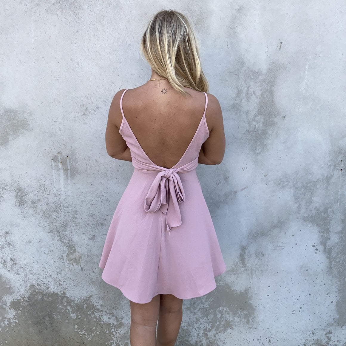 Love Affections Skater Dress in Blush Pink - Dainty Hooligan