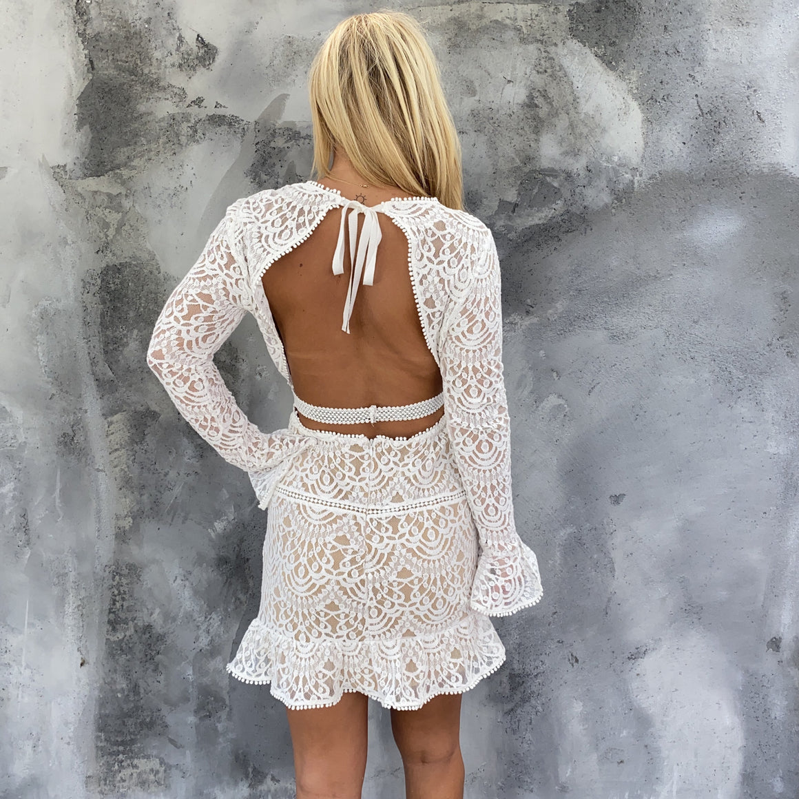 Times Like This Open Back Ivory Dress - Dainty Hooligan
