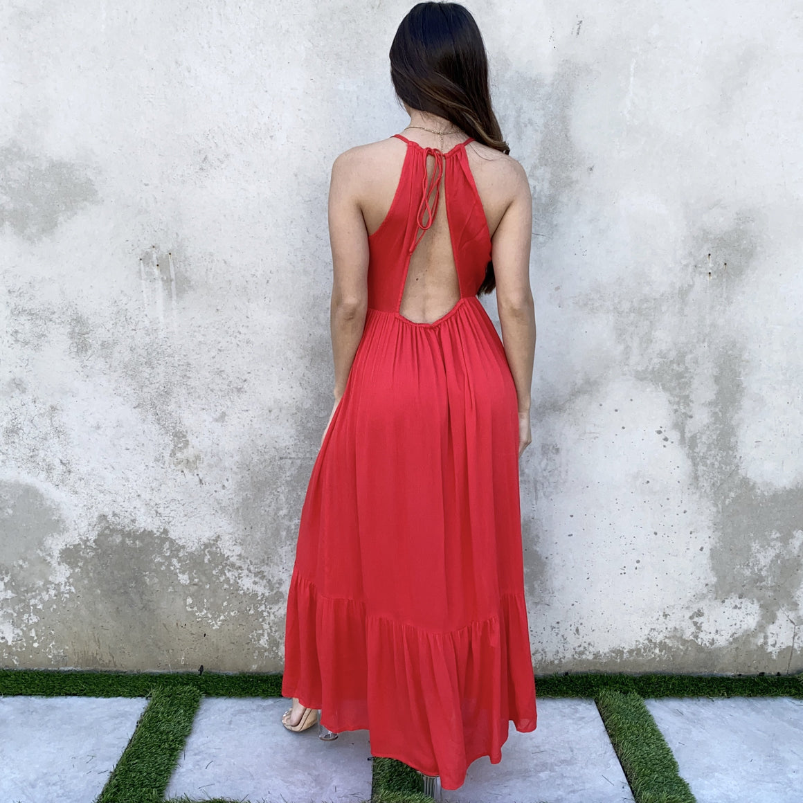 Caught Red Handed Open Back Maxi