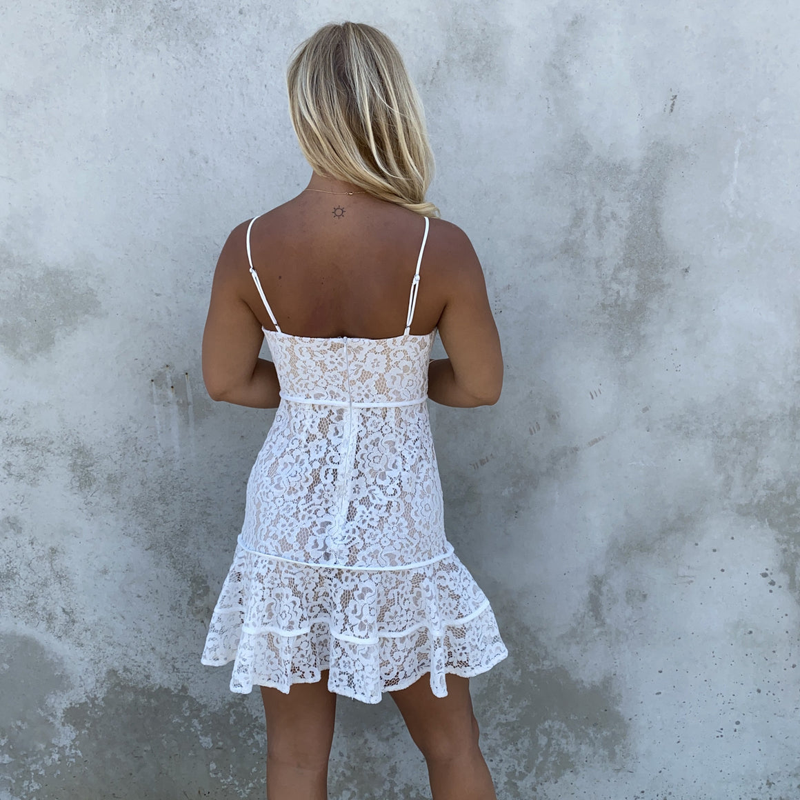 Lovely Laced Up Floral Mini Dress - Dainty Hooligan