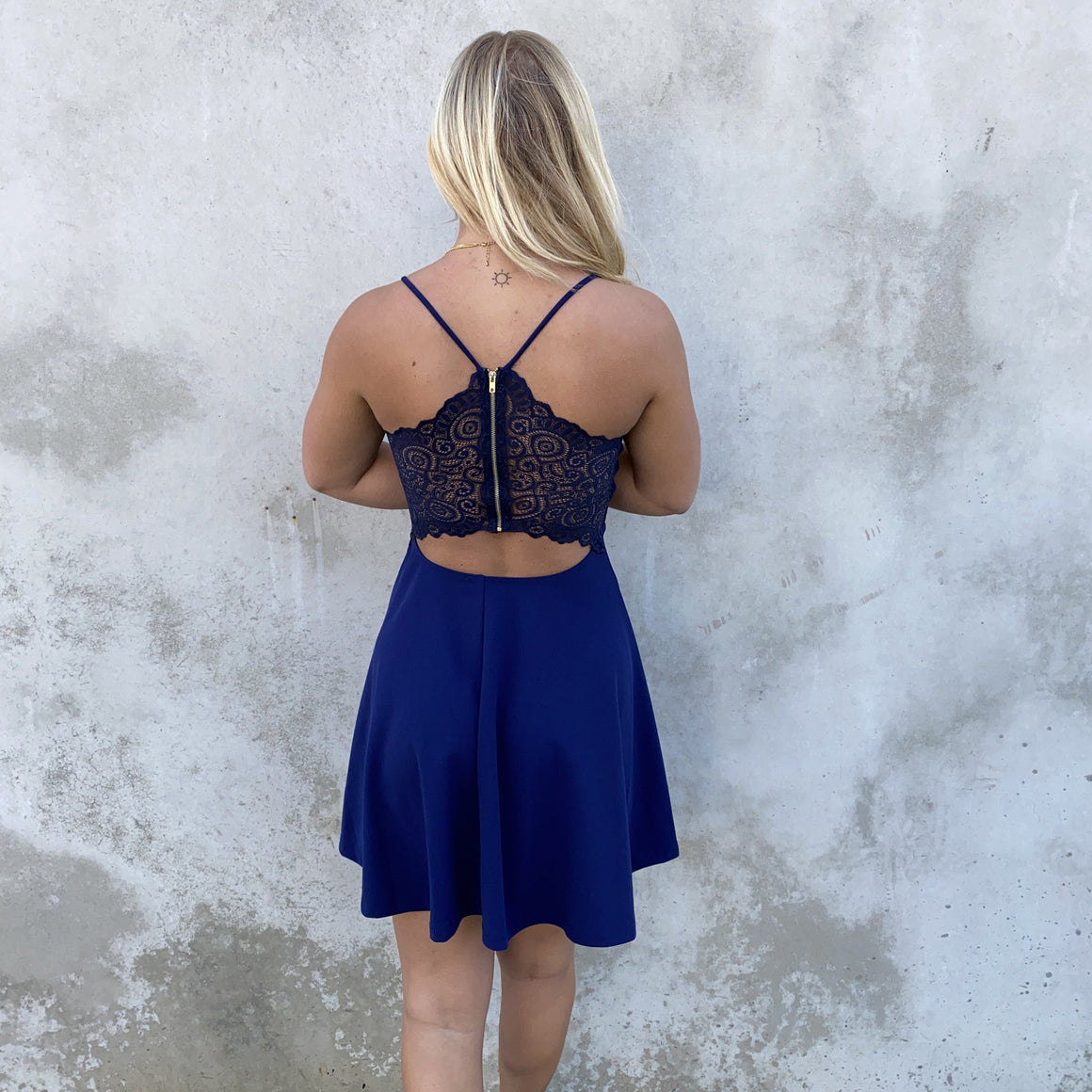 All About Love Navy Skater Dress - Dainty Hooligan