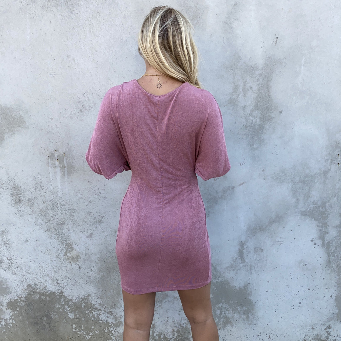 Royal Bodycon Dress in Mauve