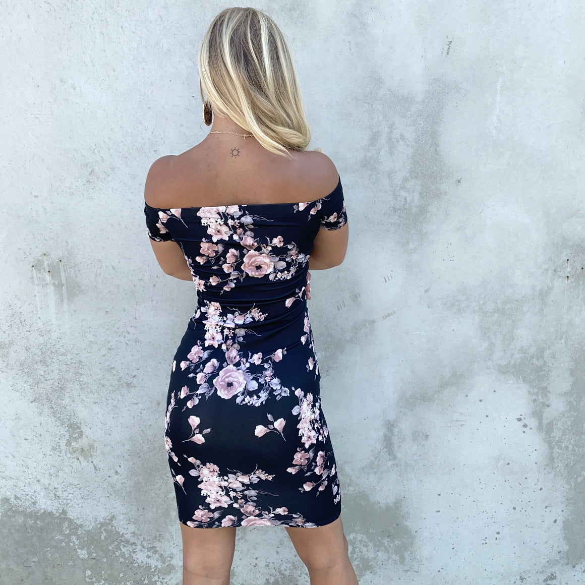 Floral Lust Black Off Shoulder Dress - Dainty Hooligan