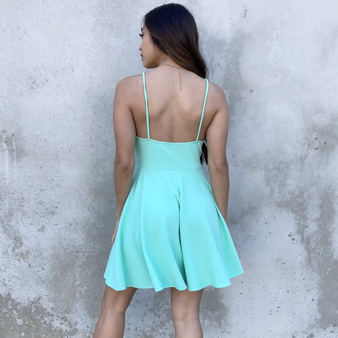 Swing In & Out Of Love Aqua Skater Dress
