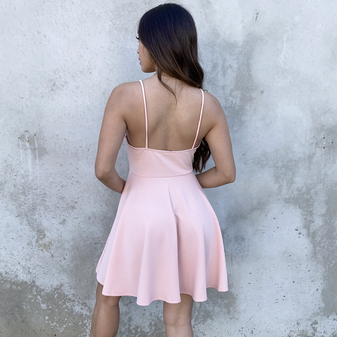 Swing In & Out Of Love Pink Skater Dress - Dainty Hooligan