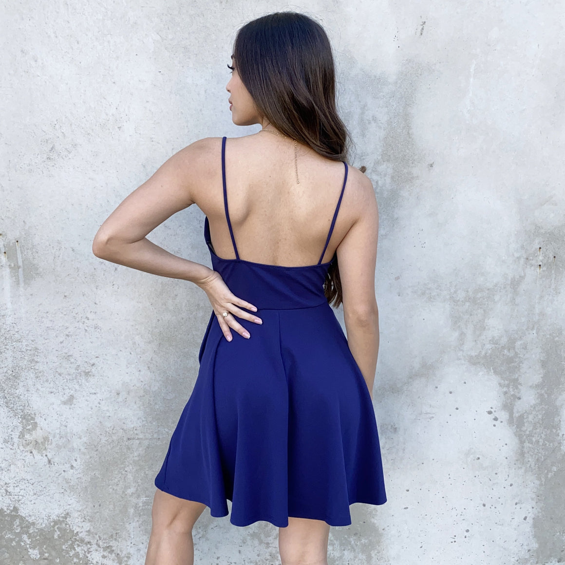 Swing In & Out Of Love Navy Skater Dress