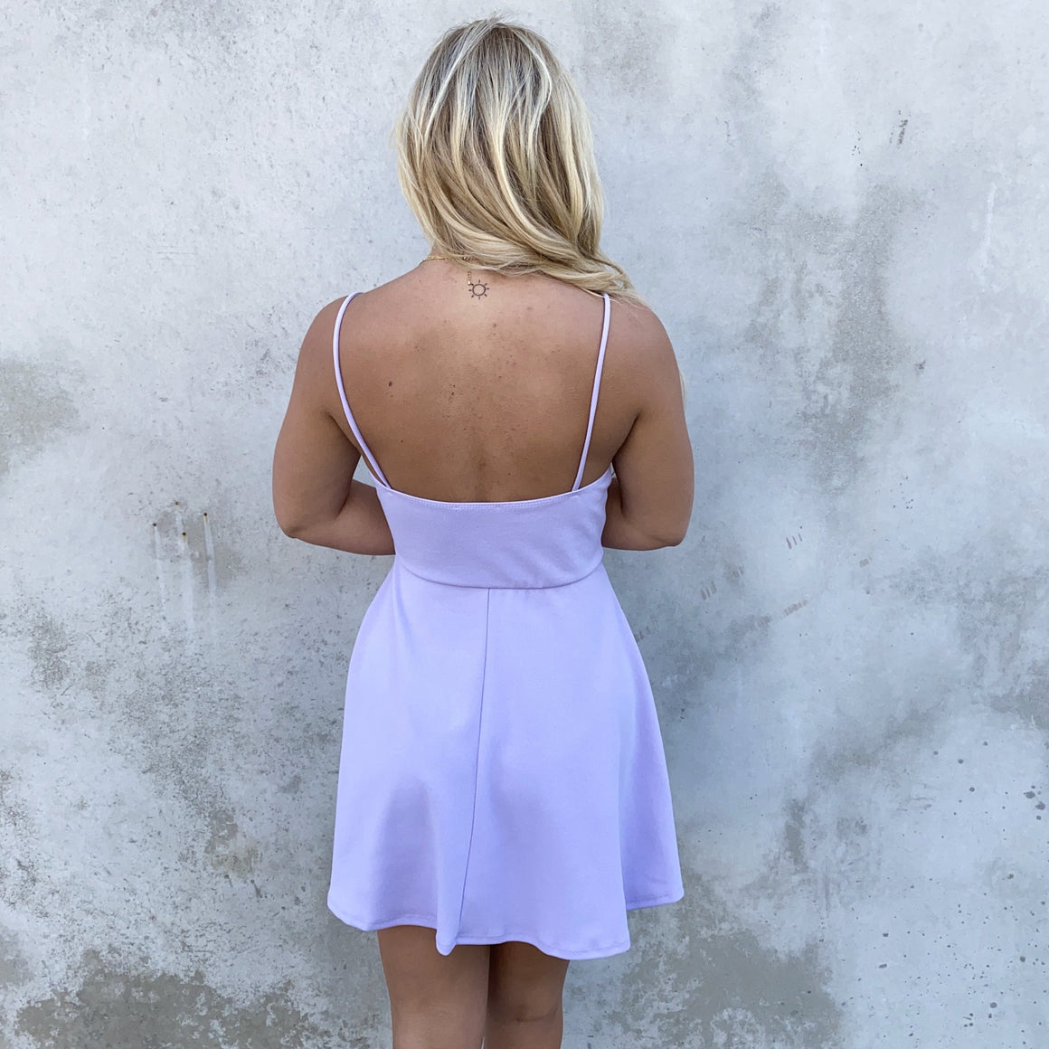Sweet Escape Lilac Skater Dress - Dainty Hooligan