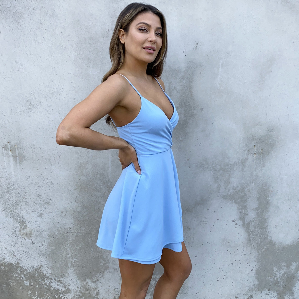 Sweet Escape Blue Skater Dress - Dainty Hooligan